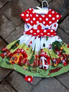 Gnomeville Garden Twirl Toddler Dress by cre8tive on Etsy, $40.00
