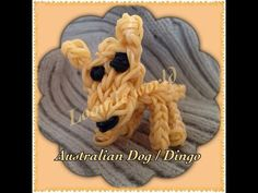 Rainbow Loom DOG/DINGO (Australian) figure. Designed and loomed by Tash Webber at Loomie World. Click photo for YouTube tutorial. 08/30/14.