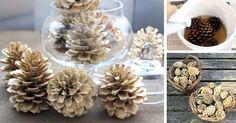 Jednoduchá DIY nápad s návodom, ako vybieliť šišky a vytvoriť tak originálne dekoračné ozdoby na Vianoce. Vianočné dekorácie a ozdoby z vybielených šišiek
