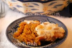 Traditional Southern Sweet Potato Casserole - classic old fashioned souffled sweet potato casserole topped in the traditional way with gooey marshmallows, or if you prefer, a praline topping.