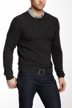Qi New York Crew Neck Cashmere Sweater