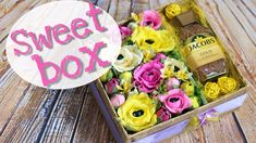 Свит бокс «Комплимент» с конфетами и кофе. DIY. Sweet box.