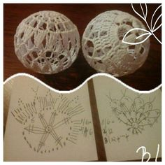 Crochet Ball, Snowflakes, Place Cards, Crochet Patterns, Christmas Decorations, Place Card Holders, Ornaments, Christmas Knitting, Table Runners