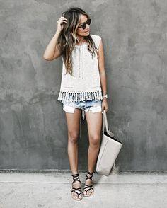 Short shorts x fringe