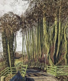 Simon Palmer - The Next Door Neighbor - source Simon Palmer - Longstone Peak - source Simon Palmer - The Composers - source . Watercolor Landscape, Landscape Art, Landscape Paintings, Tree Paintings, Nature Paintings, Landscapes, Stanley Spencer, New England Fall, Art Advisor