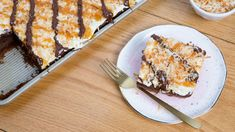 Make and share this Samoa Sheet Cake recipe from Genius Kitchen.