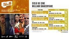 Cartelera Sala Lumiére, Ciclo de Cine: William Shakespeare. Del 20 al 25 de septiembre de 2016. Dos funciones: 16:00 y 18:30 horas. Cooperación: $10.00 #Culiacán, #Sinaloa.