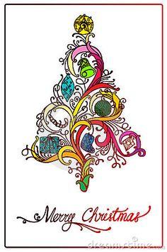 Christmas tree design by Rchicano, via Dreamstime