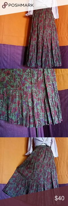 """FREE Reversible skirt Two Different Layers Broom maxi skirt created by twisting while wet. Then hang dry after 3/4 of a day, while just damp. Two skirts in one! 35"""" long Skirts Maxi"""