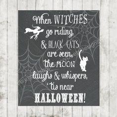 Chalkboard Halloween Printable