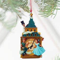 [You Can Fly!]Think only wonderful thoughts throughout the holiday season as spirits soar alongside our Sketchbook Ornament of Peter Pan and the Darling children, pausing for a moment's rest at ''Big Ben'' before a breathtaking flight to Never Land.