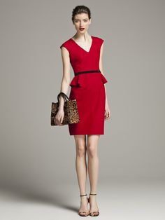 CH Carolina Herrera Colección Otoño 2013 #BoulevardJockey #Fall #CH #CarolinaHerrera #Woman #LookBook #Red #Dress