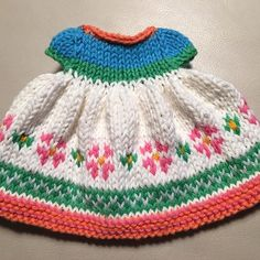 Cute tiny dress for the next little mouse... #knitting #littlecottonrabbits #mouse #paintboxyarns #happybirthdaydress