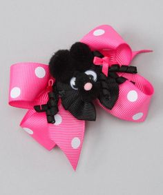 Take a look at this Pink Polka Dot Poodle Mini Bow Clip by Picture Perfect Hair Bows on #zulily today!