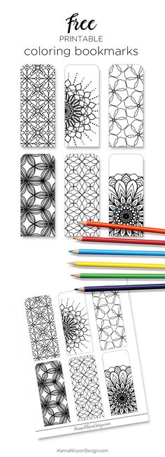 Color your own bookmarks - FREE printable bookmarks for coloring. Just download and print! -------------------------- coloring, pencils, art, reading, kids, painting, coloring pages, colouring, crayons, zentangle