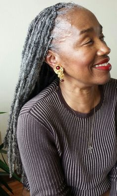 Gray locks + This is what 70 looks like!  Photo and Hair care by Shante Fagans. @shantefagans on instagram.