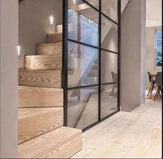38 Ideas For Open Stairs To Basement Design Open Stairs, Loft Stairs, House Stairs, Basement Stairs, House Wall, Interior Work, Interior Stairs, Interior Design, Door Design