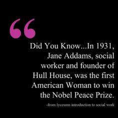 Jane Adams, social worker