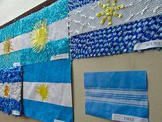 Banderas Argentinas: Ideas de cómo hacerlas con material descartable Argentina Culture, Visit Argentina, National Holidays, South America, Ideas Para, Flag, Blanket, Cities, English