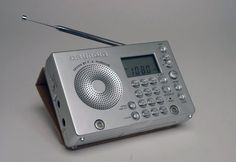 Grundig radio designed by Porsche Medium Waves, Short Waves, Spark Gap, Radio Design, Slide Rule, Transistor Radio, Porsche Design, Office Phone, Radios