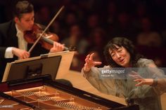 The pianist Mitsuko Uchida leading the Cleveland Orchestra in all-Mozart program at Carnegie Hall on Monday night, February 3, 2003.