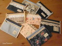新作型紙はこちらのポーチです* - hana* natural ~ やさしい時間 ~ Coin Purse Pattern, Leather Wallet Pattern, Felt Crafts, Diy And Crafts, Japan Bag, Sewing Crafts, Sewing Projects, Wallet Tutorial, Daiso