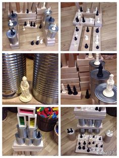 """Chess pieces added to the construction area - from Rachel ("""",)"""