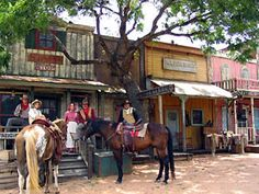 Enchanted Springs Ranch is an 86-acre working ranch located in San Antonio, Texas. The ranch boasts with live animals, re-enactors, authentic western-style buildings, and a variety of activities for a full-day of old west fun.