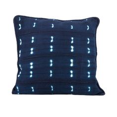 Handwoven African Mud Cloth Indigo Pillow by SquaredCharmDecor
