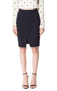 PENCIL SKIRT WITH FRONT SLIT from Zara