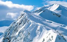 The Nature of Photographs: Snowy Peaks Wallpaper Winter Nature.
