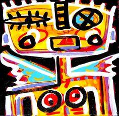 "'Fallen Angel 1' by Jon Stucky   $250   12""w x 12""h   Original Art  "