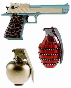 Designer Hand Grenades and Desert Eagle 50. cal