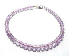 Amethyst bracelet/gemstone bracelet/purple by PepperandPomme, $21.00