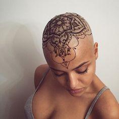 Mehndi Tattoo, Henna Tattoo Designs, Tattoo On, Head Tattoos, Henna Mehndi, Tattoo Designs For Women, Hand Henna, Girl Tattoos, Tattoos For Women