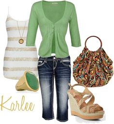 """""""Green With Envy"""" by karlee-2003 on Polyvore"""