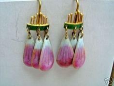 Wonderful Thousand Flowers Sterling Enamel Earrings (02/06/2008)
