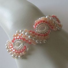 Peyote braceletPearl Blush pale peach pink by PacificJewelryDesign, $65.00 by Shopway2much