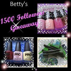 Betty Nails: 'Lets Celebrate' INTERNATIONAL Giveaway - 1500 Followers