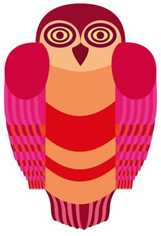 chouette Red Owl, Whimsical Owl, Owl Art, Owls, Illustrator, Thankful, Photoshop, Drawings, Color