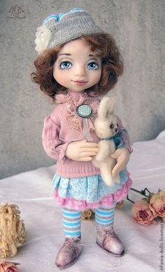 Мона - розовый,коллекционная кукла,оригинальный подарок,милое,девочковое