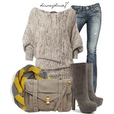 Yellow and Grey - Polyvore