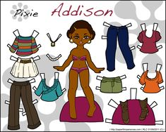african american paper dolls | Click Here for a PDF to Print } { Click Here for a 150 dpi PNG to ...