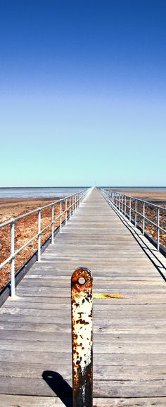 The very long Port Germein jetty