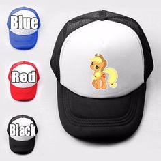 My Little Pony Is Magic Applejack Trucker Baseball Cap Solid Mesh Curved Hat   eBay