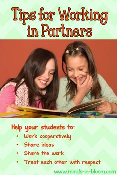 I feel like I should know this stuff, but then I forget. It is just so important to be intentional about partnering students and monitoring to make sure the pairs are working productively and happily.