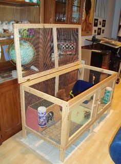 Indoor Rabbit Housing - Bunny Approved - House Rabbit Toys, Snacks, and Accessories Diy Bunny Cage, Diy Guinea Pig Cage, Guinea Pig Hutch, Guinea Pig House, Bunny Cages, Pet Guinea Pigs, Rabbit Cages, Rabbit Toys, Pet Rabbit