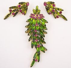 Juliana Rhinestone Brooch Set by WearableArt on Etsy