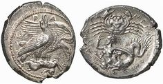 Scylla on a coin of Agrigent