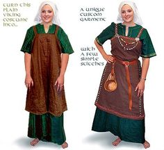 Example of simple womans dress. Iron Age.